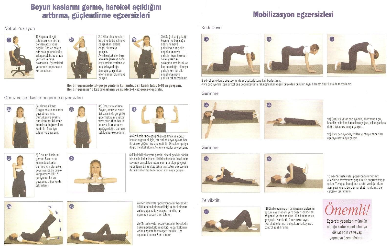 Bir intervertebral fıtık ile egzersizler