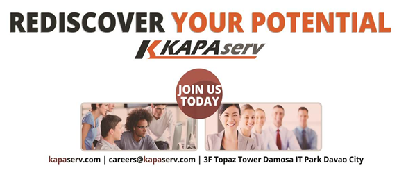 Jobs Davao: BPO Trainer for KAPAserv