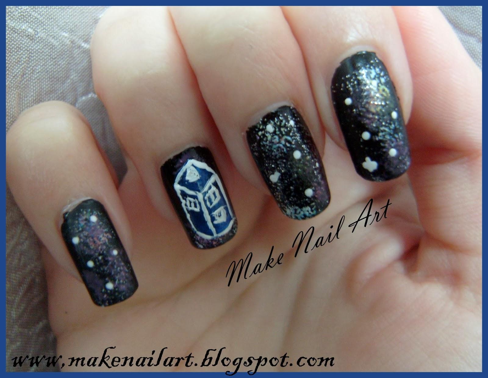 Make nail art november 2013 doctor who tardis nail art tutorial prinsesfo Choice Image
