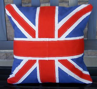 union jack sewn cushion