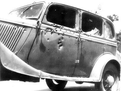 Actual Bonnie Clyde Car May 23rd 1934 Arcadia La