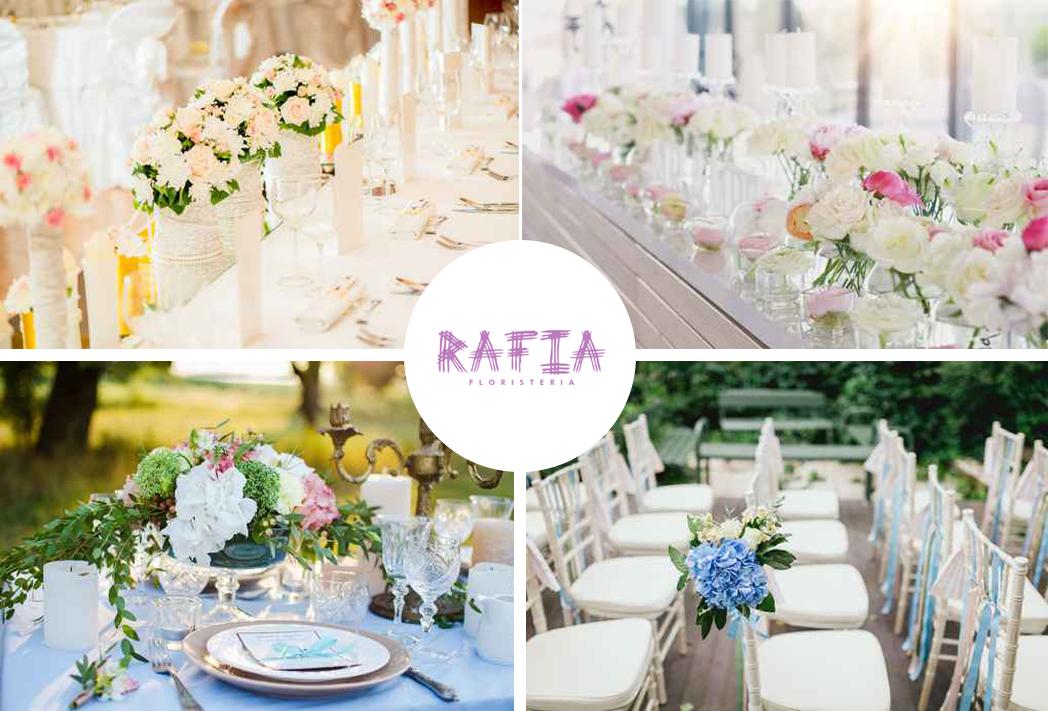 decoración de flores en bodas