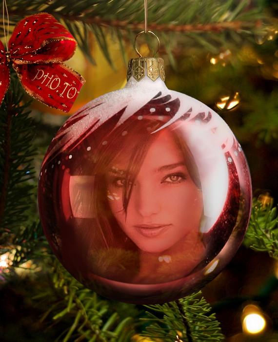 Pagina Para Editar Fotos Fotomontaje De Bola De Navidad