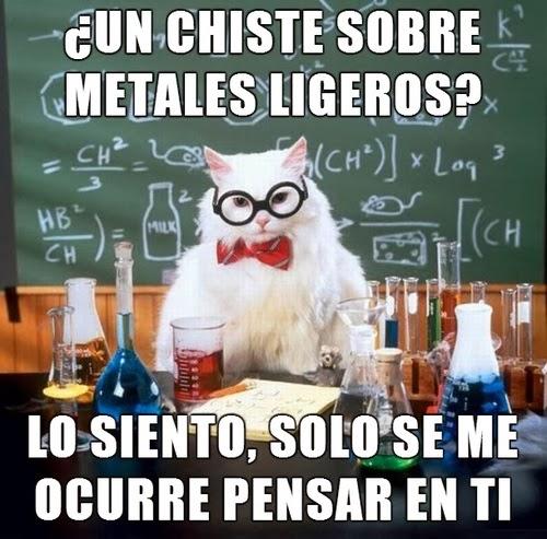 Gato químico: ¿Un chiste sobre metales ligeros?