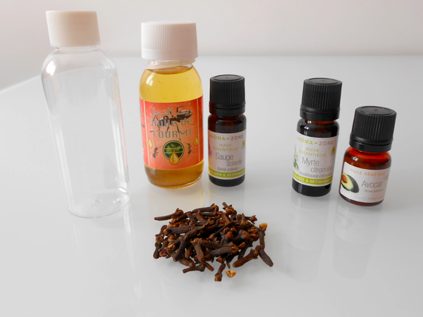 huile anti repousse poil avocat fourmi sauge