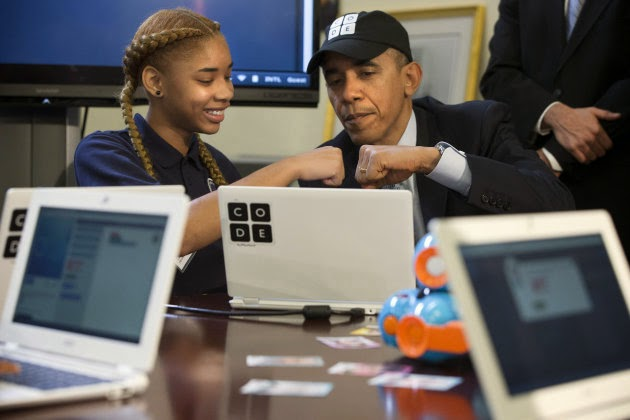 Barack Obama became the first US president to learn programming