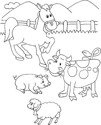 CuentosDeDonCoco.Com: DIBUJOS DE LOS ANIMALES DE LA GRANJA PARA COLOREAR