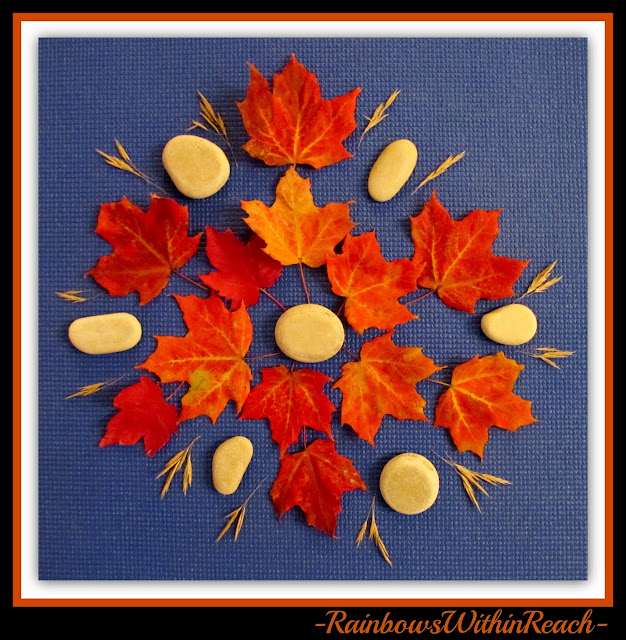 photo of: Fall Leaf Mandala (Fall RoundUP via RainbowsWithinReach) 