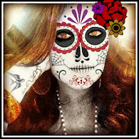 Dia de los muertos, day of the dead, Halloween face painting,