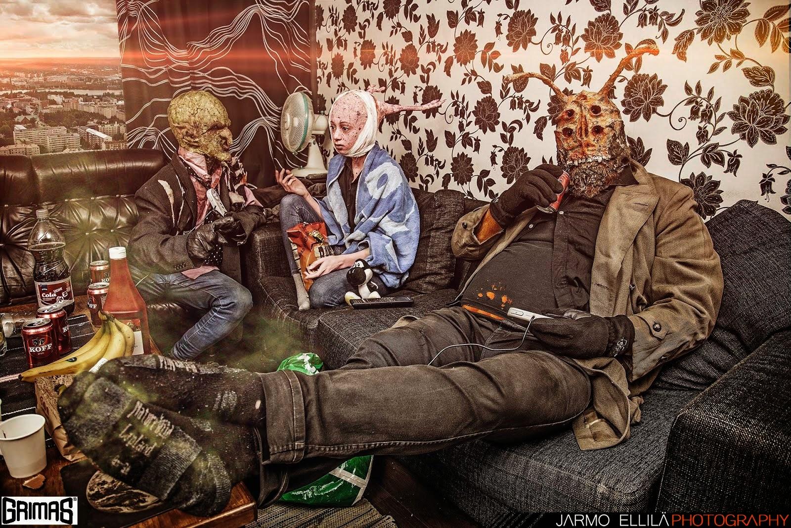 Peikko / Alien / Otus - tehostemaskeeraus testi (by: Ari Savonen).
