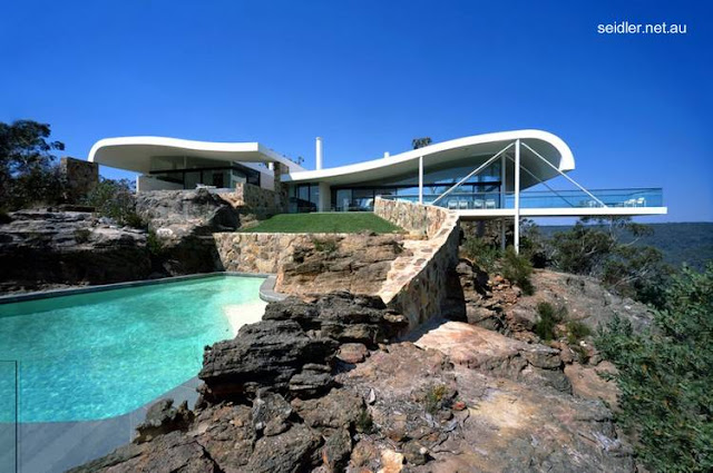 Casa de playa contemporánea australiana techos ondulados 1996 - 99