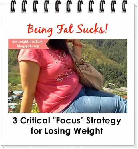 "Being Fat Sucks! 3 Critical ""Focus"" Strategy for Losing Weight"