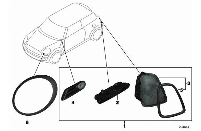 mini countryman motoring  mini  u0026quot black line u0026quot  exterior trim