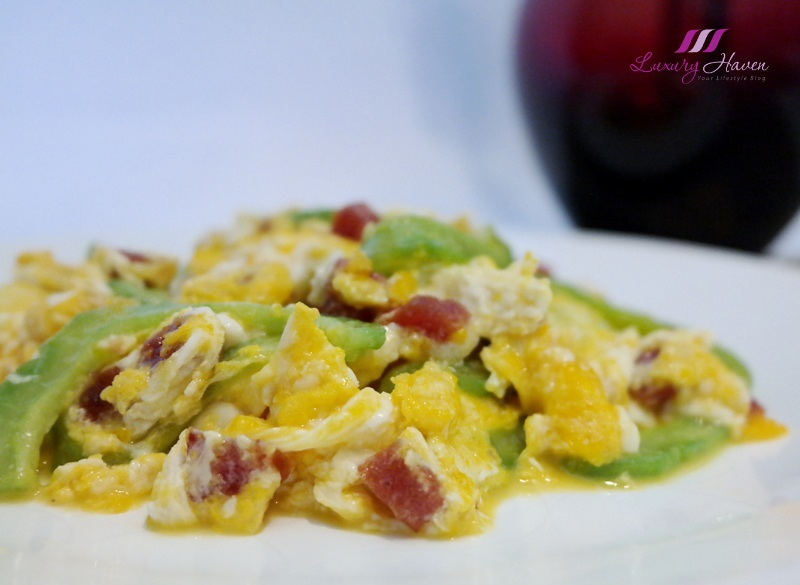 scrambled eggs with bitter gourd chinese sausage recipe
