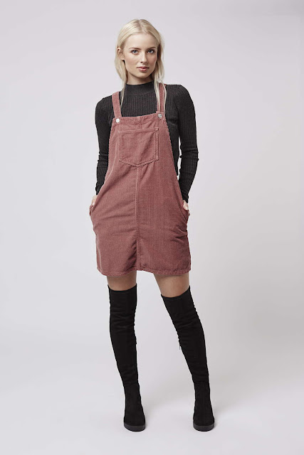 pink corduroy dress, cord pink pinafore, corduroy pinafore,