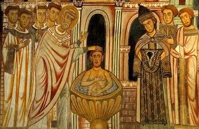 São Silvestre I batiza o imperador Constantino