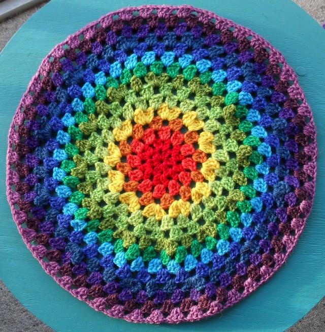 Вязание круглого половика крючком 41