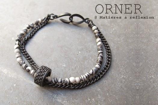 Bracelet unisex agate Orner bijoux