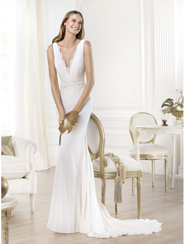 Deep V Neck Wedding Dresses 47