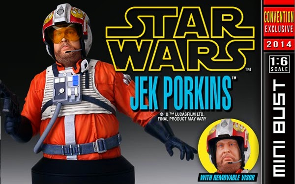 San Diego Comic-Con 2014 Exclusive Jek Porkins Star Wars Mini Bust by Gentle Giant