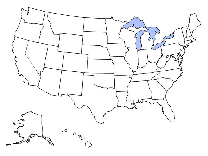 Blank Map Of Lower 48 States