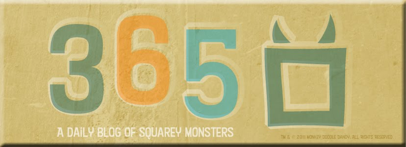 365 Squarey Monsters