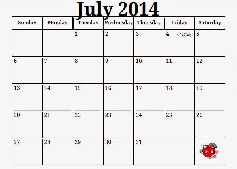 Free Printable Calendar: Free Printable Calendar July