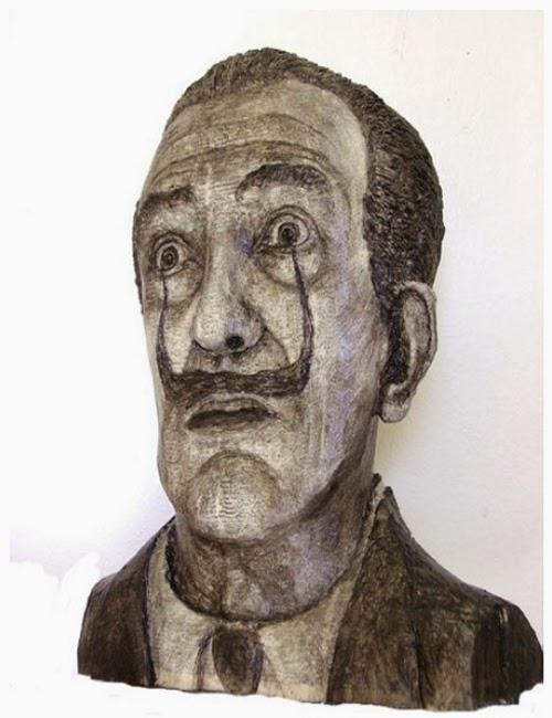 14-Salvador-Dalí-Phone-Books-Sculpture-Carving-Cuban-Artist-Alex-Queral-WWW-Designstack-Co