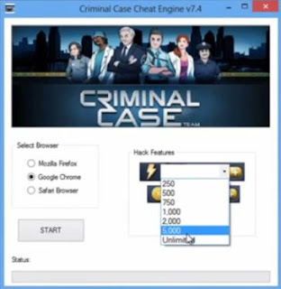 Generators - Adders - Hacks: Facebook Criminal Case Cheat Engine v7.4