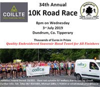 Fast 10k nr Cashel - Wed 3rd July 2019