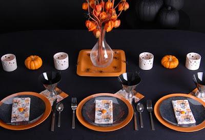 halloween decoración mesas