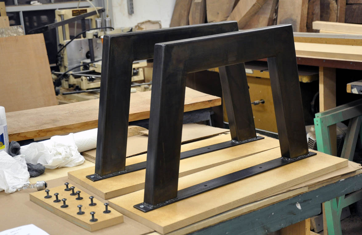 Dorset Custom Furniture - A Woodworkers Photo Journal: what kind of steel base can i have on my ...