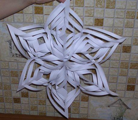 Как снежинку из бумаги своими руками фото поэтапно