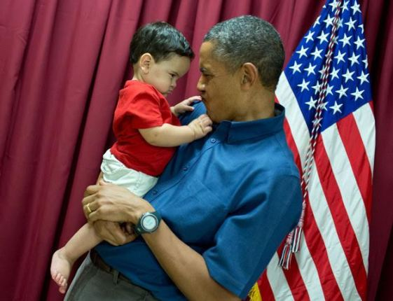 Adorable photos of Pres. Obama goofing around with little children