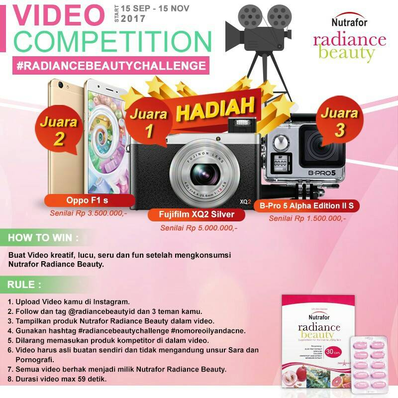Video Competition Radiance Beauty Challenge 2017