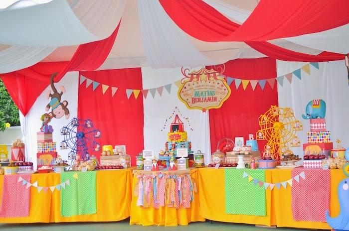 decoração festa bh circu palhaço