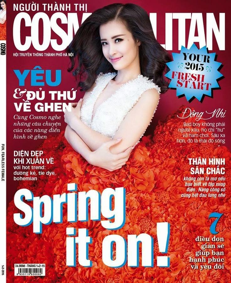 Dong Nhi - Cosmopolitan, Vietnam, January 2015