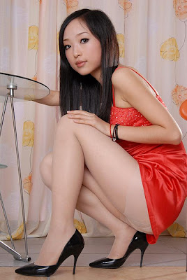 And upskirt stockings young Asian