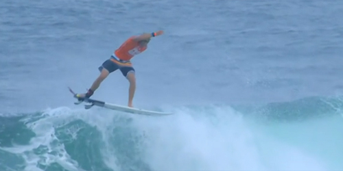 Greatest ever surf trick at the Oakley Pro