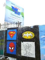 SUPERHEROES wall art by Hemant Sonawane & Samrat Bhogle : Superman, Batman, Spiderman and Common Man
