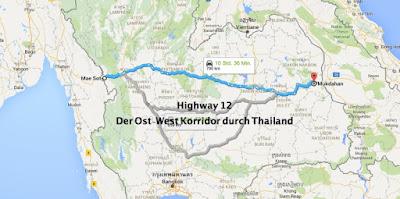 Ost-West Korridor Thailand
