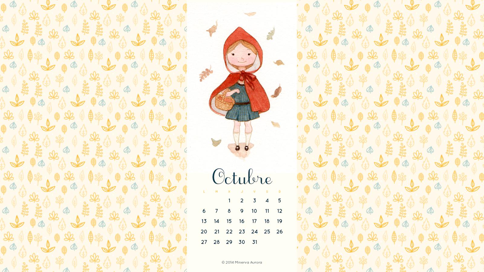 wallpaper calendario octubre