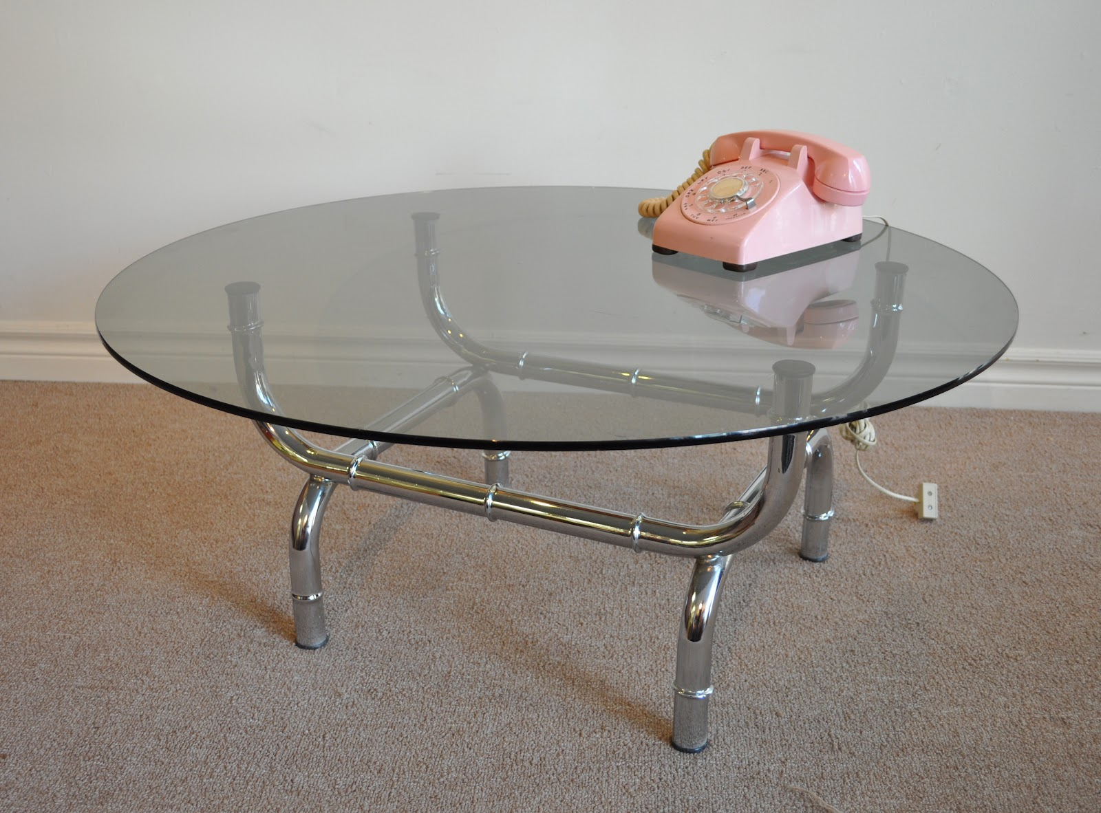Antiques on kent sleek 1960 39 s chrome coffee table Sleek coffee table