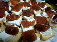 Bocadito de queso y dulce de membrillo