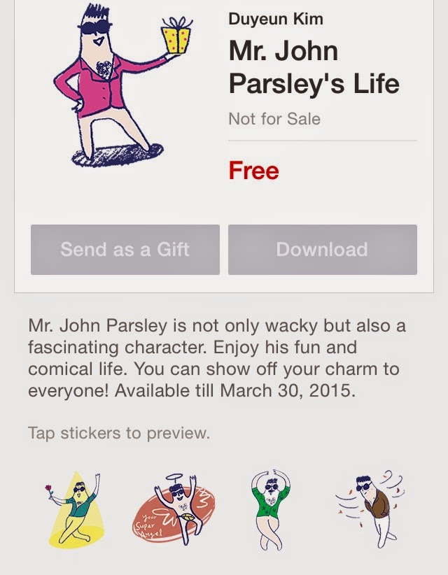 Mr. John Parsleyʹs Life stickers free download