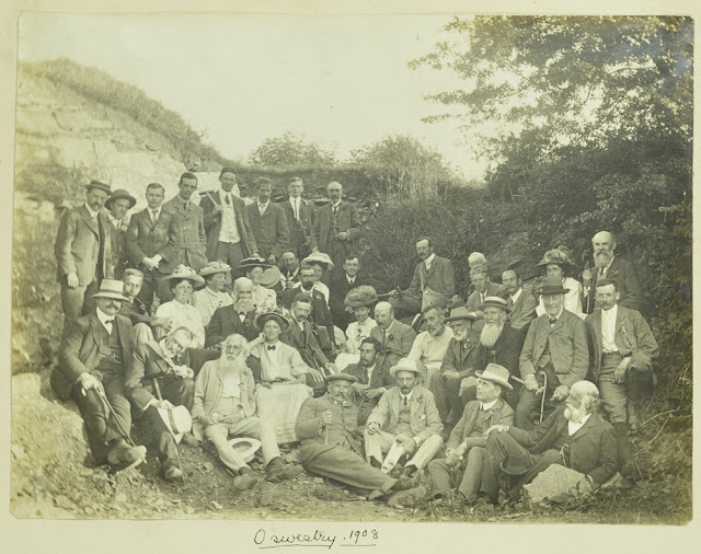 Geologists' Association  - Oswestry  Excursion, 1908 - group photograph. Photograph from the GA 'Carreck Archive'