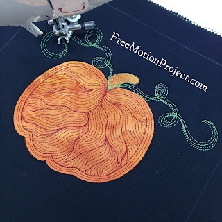 free motion quilting design | twisted tendril