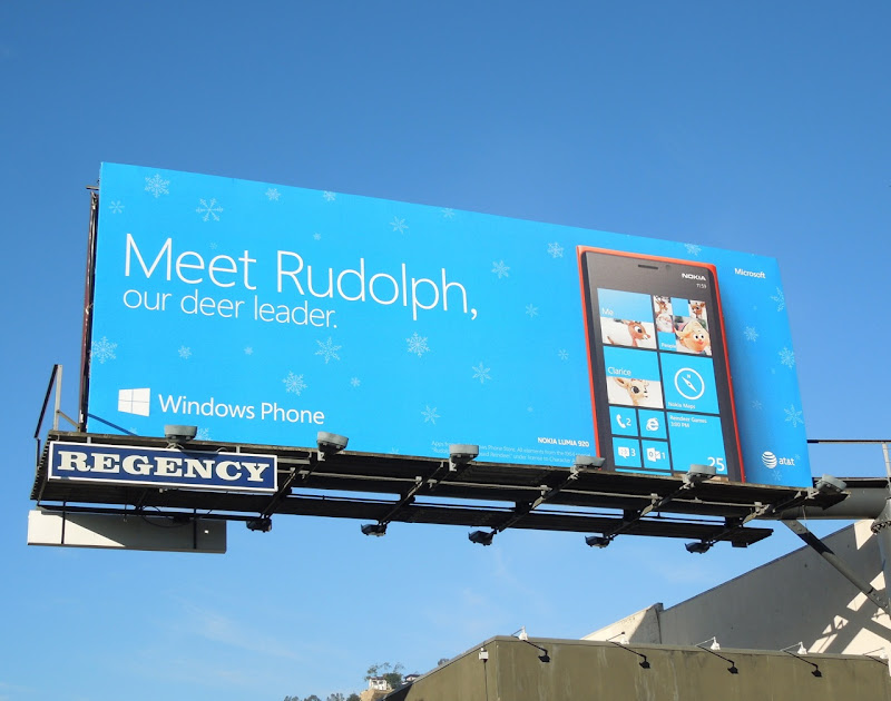 Meet Rudolph Windows Phone billboard