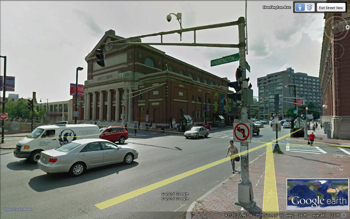 Google Street View, Symphony Hall, Boston, Massachusetts