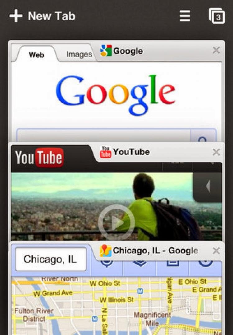 صورة من متصفح جوجل كروم علي احد الهواتف Chrome for iOS